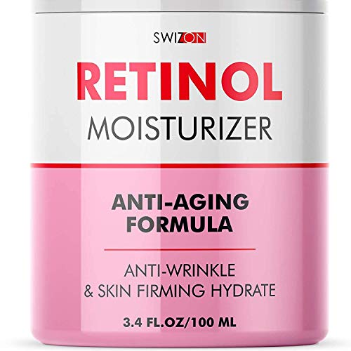 41qGyGMRrpL - Anti-Wrinkle Retinol Cream for Face - Firming and Lifting Effect - Anti-Aging Face Moisturizer for Women and Men - Day and Night Neck, Double Chin, and Face Cream with Hyaluronic Acid - Made in Usa