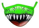 wild republic mascherina per bambini wild smiles, perfetta da applicare sopra alla mascherina per uso medico, riutilizzabile, lavabile, mascherina metà viso, motivo dinosauro