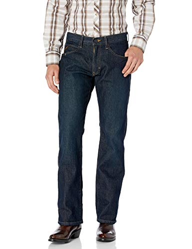 Ariat Men's M5 REBAR Stretch Slim Fit Straight Leg Jean, Blackstone, 34x34