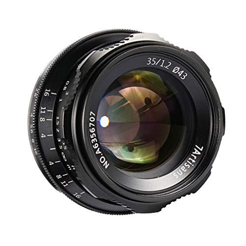 H HILABEE 35 mm f/1.2 Fotograma Completo y APS-C - Objetivo para Canon, Cuchillas de Apertura: 9