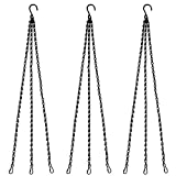 Benvo Hanging Chains for Plants Flower Pot Basket Chains 3 Point Replacement Chain Hangers for Lanterns, Bird Feeders, Planters and Other Ornaments (24 inch Long Each Hanging Chains, Pack of 3)