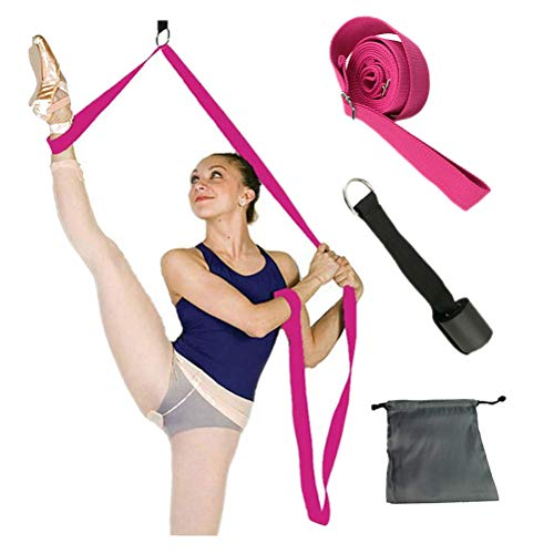 FBBULES Banda Elástica para Piernas Material Ballet Correas Yoga Banda Elástica Puerta de Ballet Camilla de la Pierna Entrenador Flexibilidad Pilates Ajustable para Danza/Gimnasia/Equipo de Taekwondo