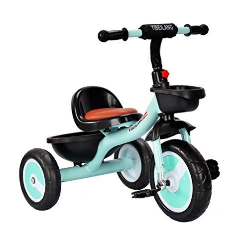 WENJIE Triciclo De Pedal for Bebés De 1-3-6 Años Coche Infantil Cochecito De Niño Triciclo Multifunción Combinación Interior Y Exterior De Niño Y Niña (Color : Green)
