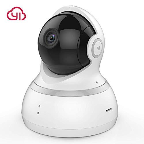 YI Überwachungskamera Dome 1080p IP Kamera Wlan Kamera Indoor Full HD Überwachungskamera Wlan mit Bewegungserkennung, Zwei-Wege-Audio, Nachtsicht, Unterstützt Fernalarm und Mobile App Kontrolle