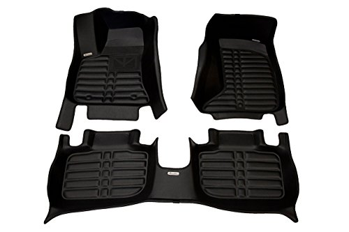 TuxMat Custom Car Floor Mats for Dodge Charger AWD 2011-2020 Models- Laser Measured, Largest Coverage, Waterproof, All Weather.The BestDodge Charger Accessory. (Full Set - Black)