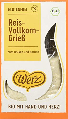 Werz Reis-Grieß glutenfrei, 3er Pack (3 x 250 g Packung) - Bio