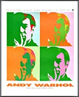 ポスター アンディ ウォーホル セルフポートレート 額装品 アルミ製ベーシックフレーム(ブラック)