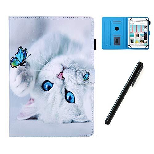 HereMore Hülle für 10.1 Zoll Tablet mit Stift, Smart Hülle Ständer Cover Tasche Schutzhülle für Samsung Tab A 10.1/S5e 10,5