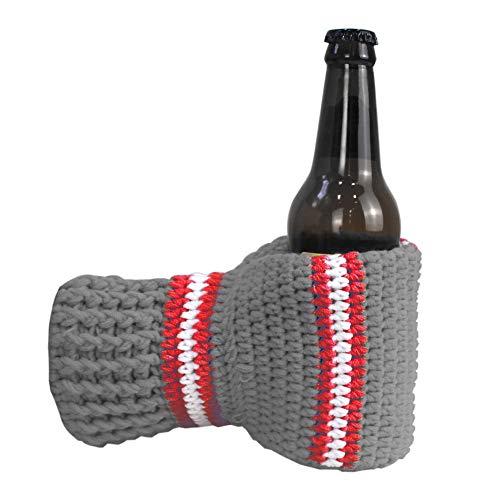 Bierhandschuh-Handschuhe, gestrickt, genäht, Getränke-Halter für weißen Elefant, Gag Geschenk