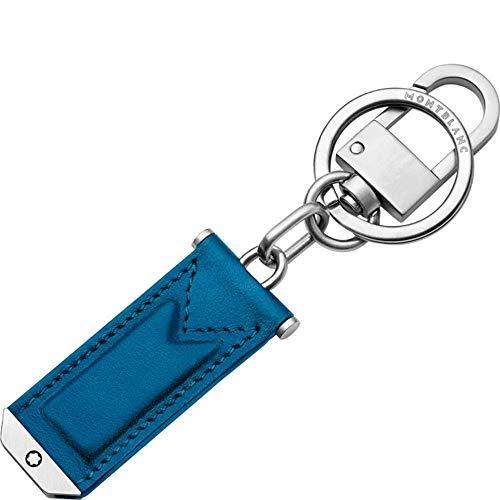 Montblanc Urban Schlüsselanhänger Leder Blau 3 x 0,5 x 12 cm