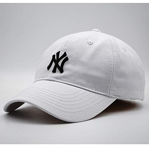 xiaochicun Sombrero de sombrilla Nueva Gorra de béisbol de Tapa Blanda Pareja Masculina de Viaje Gorra Salvaje NY Gorra Blanca pequeña Tapa Blanda