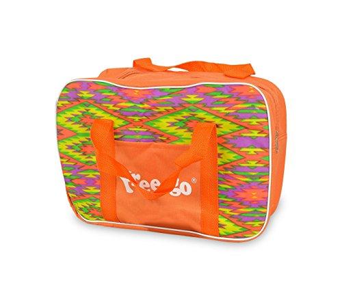 mws 2953AN Borsa termica FREE-GO 33x23x12 cm fantasia zig-zag 4 litri (Arancione)