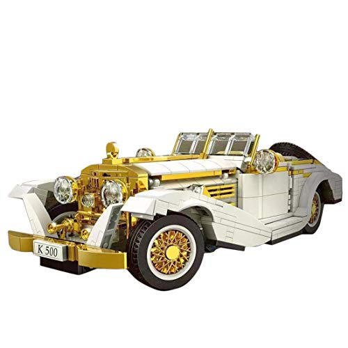 LYCH Technik Oldtimer Auto für K500, 868 Klemmbausteine Technik Klemmbausteine Auto Rückziehauto Bauset Kompatibel mit Lego Technic (Mould King 10003)