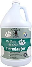 BUBBAS Super Strength Commercial Enzyme Cleaner - Pet Odor Eliminator | Enzymatic Stain Remover | Remove Dog Cat Urine Smell from Carpet, Rug or Hardwood Floor and Other Surfaces (Gallon)
