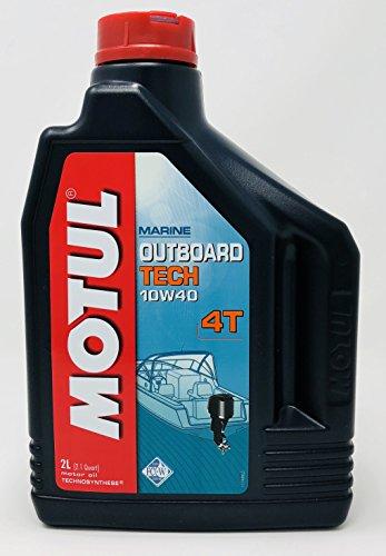 MOTUL Aceite de Motor para Motos de Agua fueraborda Outboard Tech 4T 10W40, 2 litros