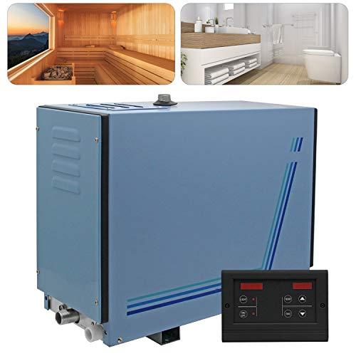 Hanchen 6KW Generatore di Vapore per Sauna SPA Bagno Turco Doccia 6m³ con Controller Digitale Temperatura e Tempo Regolabili 35-55 ℃ 10min-8h 220V CE