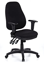 hjh OFFICE 702000 professional office chair ZENIT PRO fabric black office chair ergonomic, backrest adjustable, upholstered