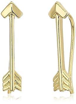 18K Yellow Gold Plated Sterling Silver Arrow Earrings