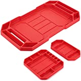 Automotive Flexible Non-Slip Tool Tray, Skoye 3pcs Original Heat Resistant Silicone-Polymer Mat, Large Tool Organizer and Storage Securely Form, Non-Magnetic Tool Mats