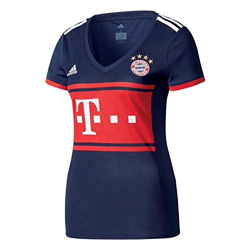 adidas Damen FC Bayern Auswärts Trikot, Collegiate Navy/FCB True Red, L