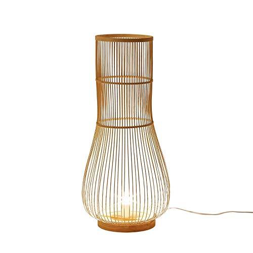 Allamp Japonés de la Individualidad de pie luminarias Teje a Mano lámpara de bambú Pastorale Salón Dormitorio Estudio E27 Bombilla de iluminación Utilizado en Sala de Estar, dormit