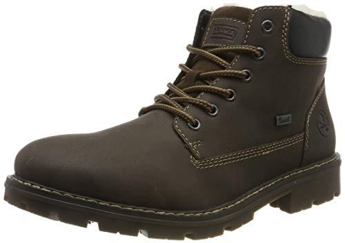 Rieker Herren 34041 Klassische Stiefel, Braun (Moro/Schwarz/Moro 25), 43 EU