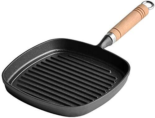 Inductie Pan ToxinFree Gezonde gietijzer Nonstick metalen keukengerei/inductie/Vaatwasser/ovenbestendig braadpan - 22cm en hittebestendig handvatten HAOSHUAI