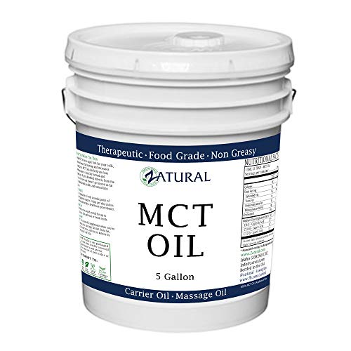 MCT Oil, Food and Therapeutic Grade, Carrier Oil, Massage Oil, Hydrating Oil, Hair Oil, 0 Additives, Pure MCT Oil (640 Ounce (5 Gallon))