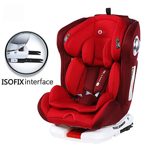 Cómodo asiento automóvil para niños,arnés de cubierta refuerzo con clip cinturón de seguridad para niños,interfaz ISOFIX Asiento de seguridad para automóvil,puede sentarse y acostarse-ISOFIXint