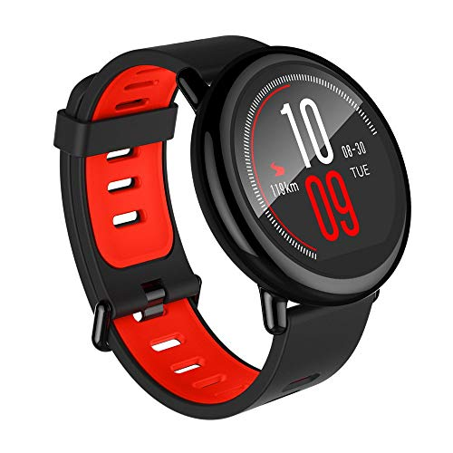 Xiaomi AMAZFIT Pace-Smartwatch GPS Multideporte1.34'' Táctil,relojes deportivos con seguimiento de actividad durante,pantalla táctil Bluetooth,monitor frecuencia cardíaca impermeable iOs Android Negro