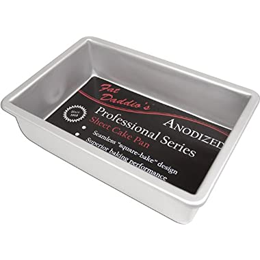 Fat Daddio's Anodized Aluminum Sheet Cake Pan, 9 Inch by 13 Inch by 2 Inch