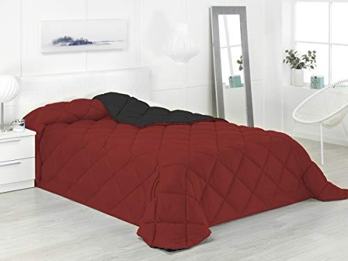 Boncasa - Xtreme 400 - Edredón nórdico de 400 g, Bicolor (Rojo y Negro, Cama 90/105-180 x 270 cm)
