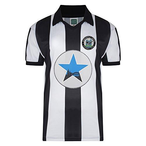 Newcastle United 1982 Retro Shirt Black/White Large Polyester