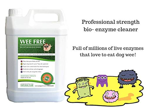 WEE FREE 5 Ltr Artificial Grass Cleaner and Pet Odour Eliminator for Dog Urine - Disinfectant, Neutraliser and Deodoriser for Dog Wee on Astro Turf and Fake Lawns. Safe for Dogs and Animals. 3