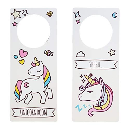 Dr. Troll poming Cartello Non Disturbare Gancio per pomello Porte Stanza Tipo DO Not Disturb Unicorno Unicorn Room Shhhh.