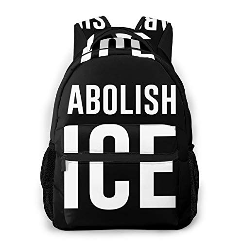Abolish Ice Backpack Water Resistant Lightweight Cloth Casual Unisex