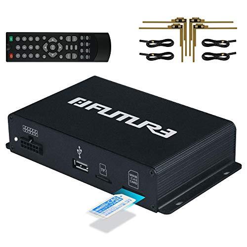 FUTURE 地デジチューナー フルセグチューナー 車載用 地デジタル フルセグ TV チューナー AV HDMI出力対応 高性能4×4 12V~24Vフルセグ フィルムアンテナ miniB-CASカード付