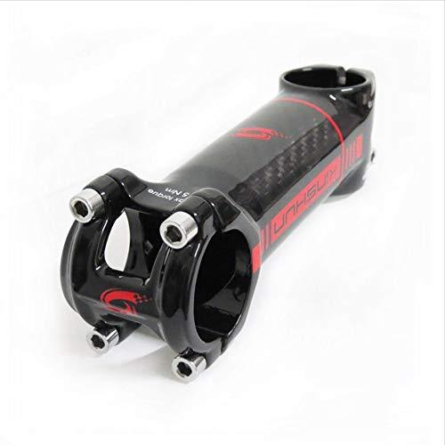 QYWJ Manillar De La Bicicleta Tallo - aleación de Aluminio y Fibra de Carbono para Manillar de Bicicleta, para Bicicleta de Carretera, de montaña, de 6 Grados φ31,8 x 80/90/100/110 mm