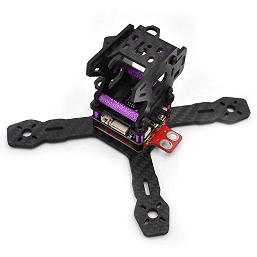 Realacc RX130 130mm FPV Racing Drone Frame 3mm 3K Carbon Fiber Unibody with 5V/12V Power Distribution Board XT60