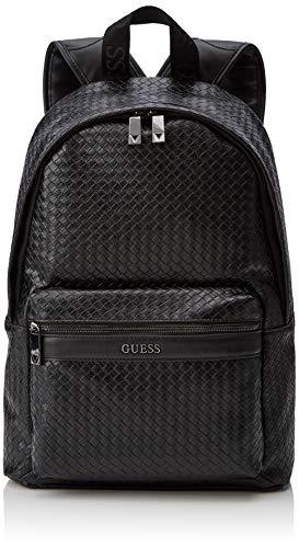 Guess New Milano Backpack, Mochila para Hombre, Blu (Black