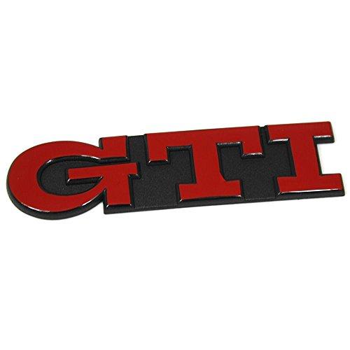 Schriftzug GTI Heckklappe Emblem, tornadorot