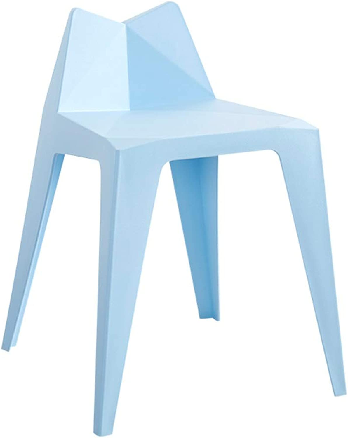 Plastic Stool, Living Room Bench Fashion Home Creative High Stool Thickening Adult Simple Restaurant Stool (color   bluee)