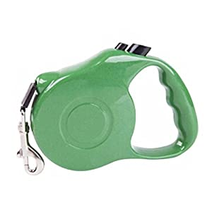 SODIAL (R) 3m Pet automatique rétractable Ceinture de traction réglable pour animal domestique Collier de laisse de chien Puppy Marche extension Mène (Vert)