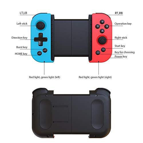 Powkiddy X6 Telescópico inalámbrico Bluetooth Gamepad Estirable Juego móvil Joystick Controlador Comer Pollo Mango Estimula Battlefield Android iOS Teléfono móvil Conexión Directa