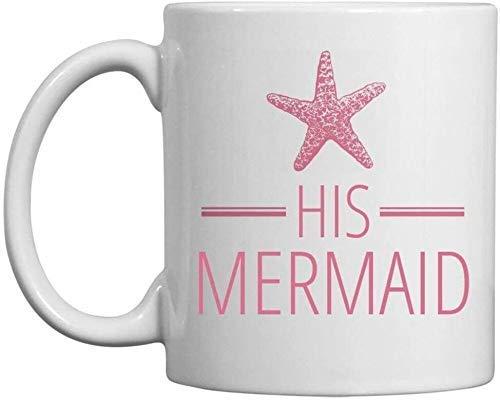 Su taza de playa de luna de miel de sirena: taza de café de cerámica de 11 oz