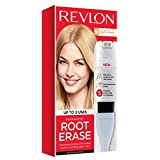 Revlon Root Erase Permanent Hair Color, At-Home Root Touchup Hair Dye with Applicator Brush for Multiple Use, 100% Gray Coverage, Light Blonde (9), 3.2 oz