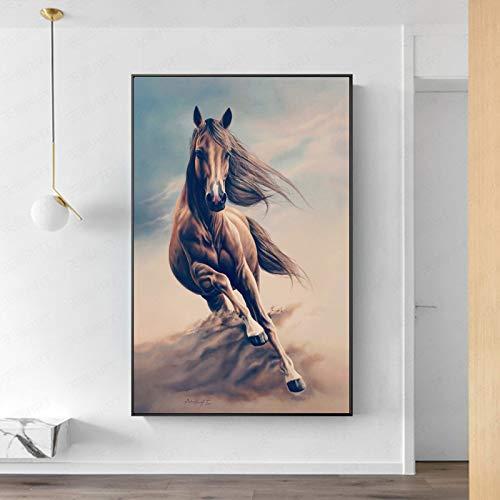 baodanla Geen frame Abstract Dierlijke Olie ng op Canvas Posters en Prints Wandkunst Running Horse Pictures voor Woonkamer Decor Unframed
