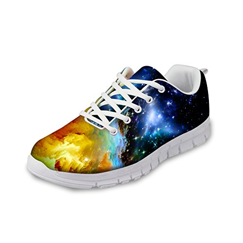 HUGS IDEA Galaxy Fashion Women's Sneakers Lightweight Breathable Athletic Sport Shoes US5