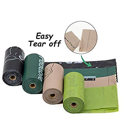 Greener Walker Poo Bags for Dog Waste, 360 Poop Bags,Extra Thick Strong 100% Leak Proof Biodegradable Dog Poo Bags (Brown) 2