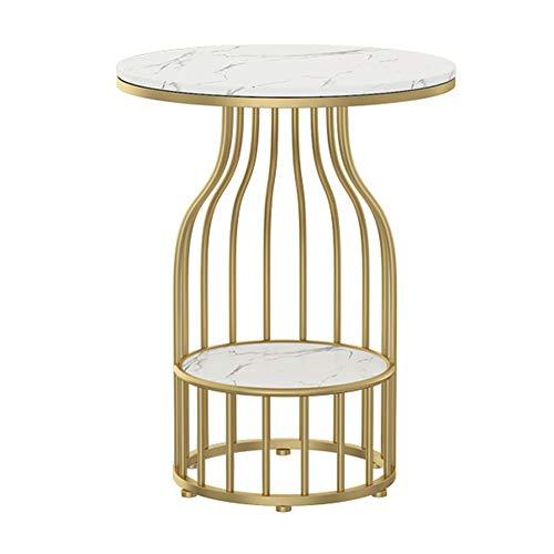 tavolino da caffè Divano da Soggiorno Tavolino Piccolo tavolino da caffè, tavolino da Tavolo in Marmo, Adatto per Soggiorno, Camera da Letto, corridoio, casa, 50 × 50 × 60 cm